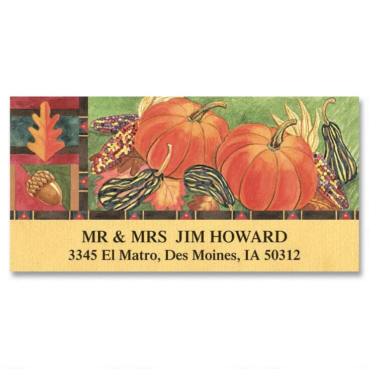 Autumn Harvest  Deluxe Address Labels