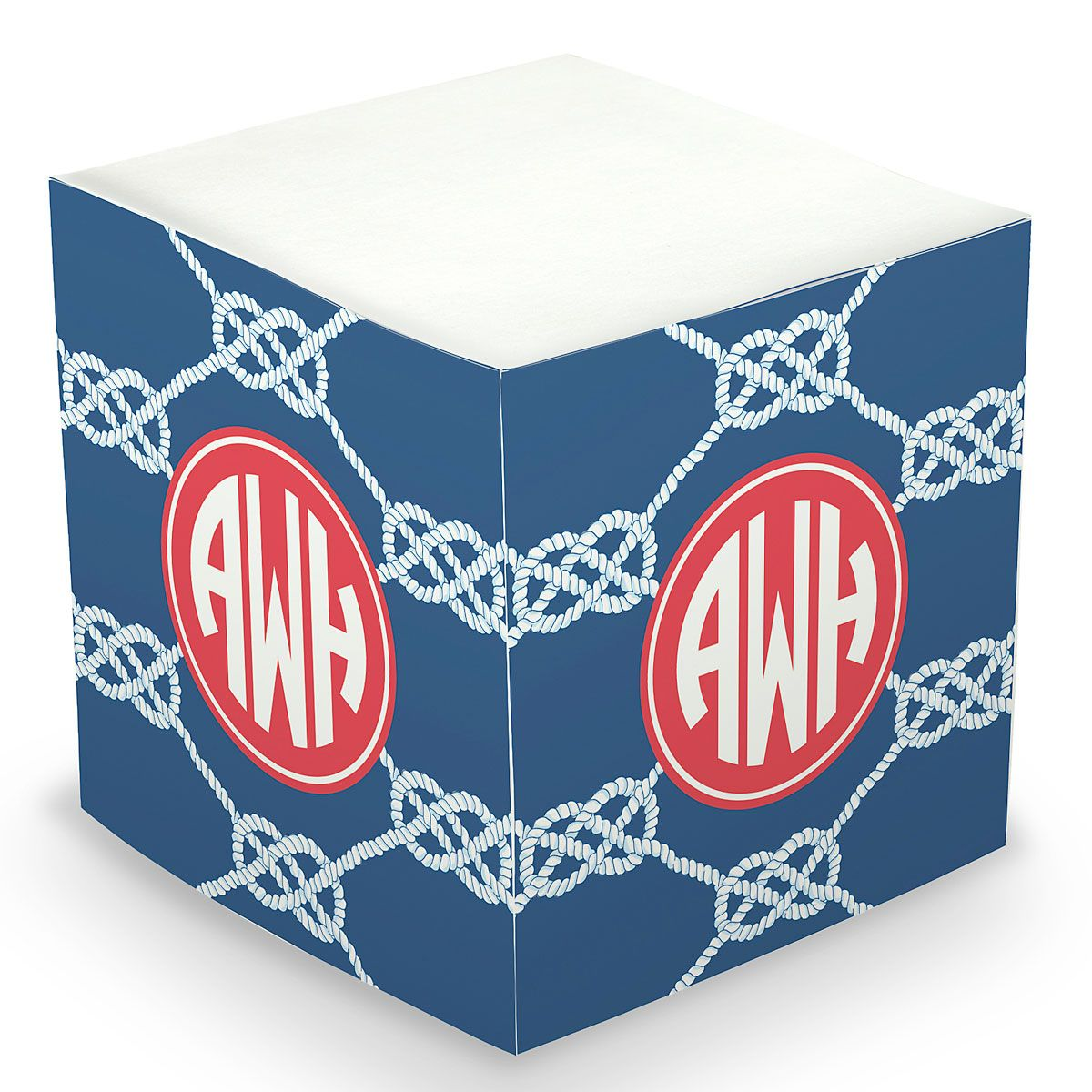 Personalized Knot Sticky Memo Cube