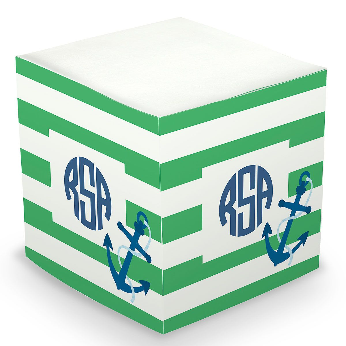 Personalized Anchor Sticky Memo Cube