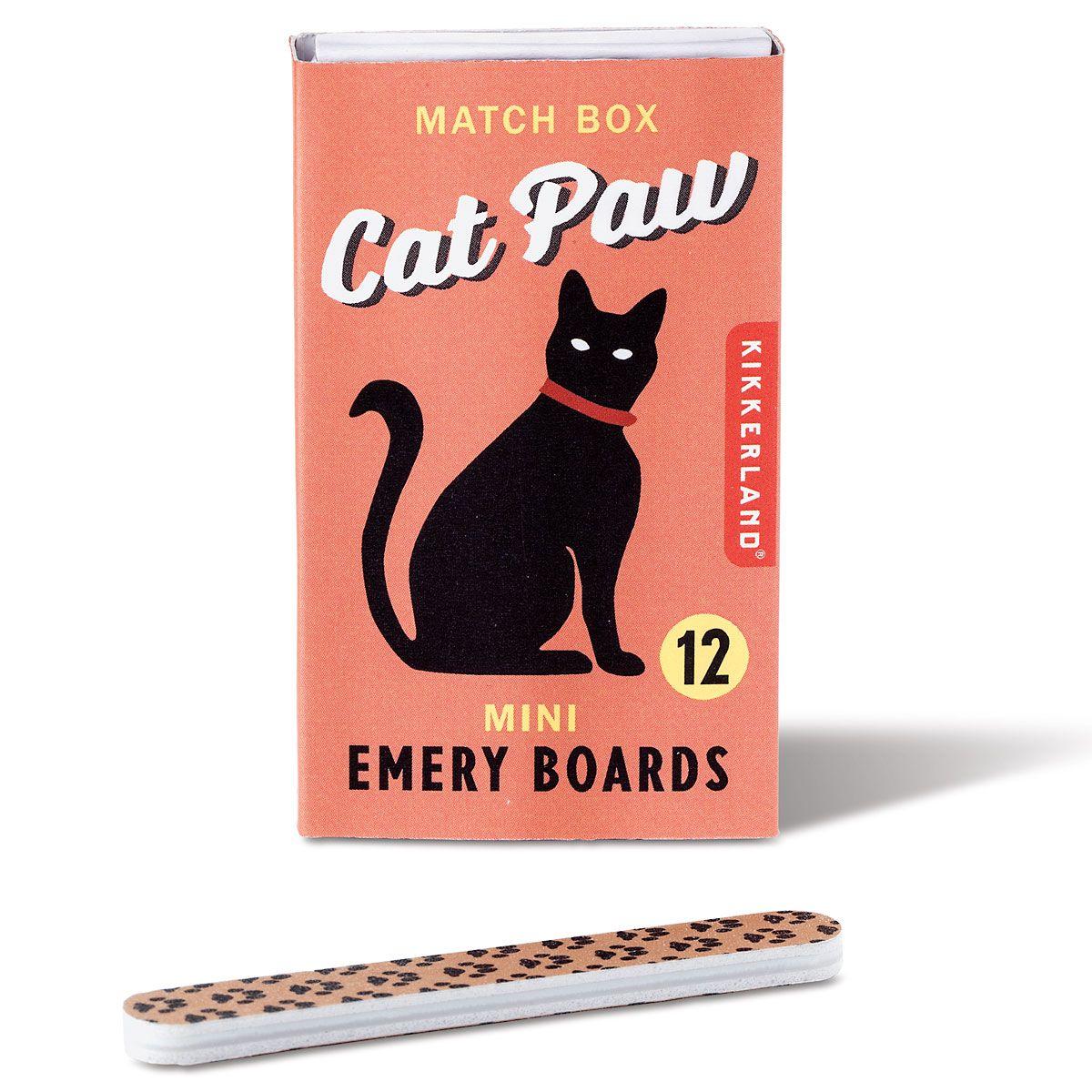Match Box Emery Boards - Cat Paw