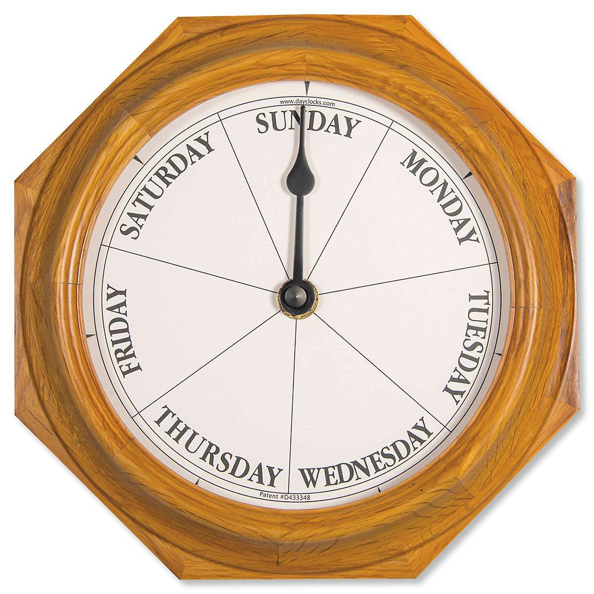 Oak Day Clock