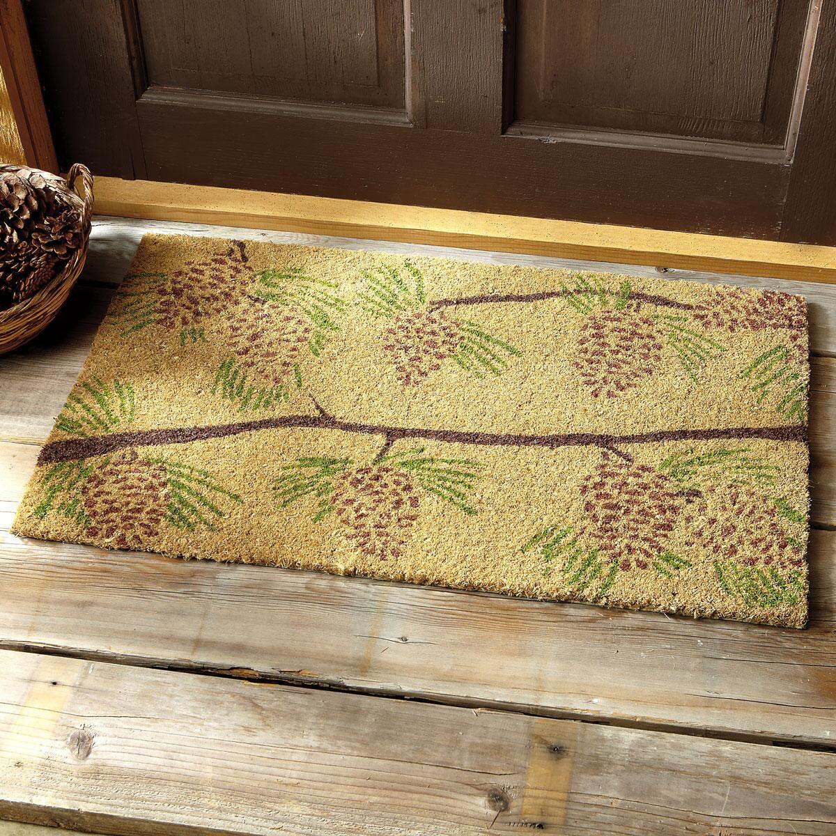 Pinecones Coir Doormat