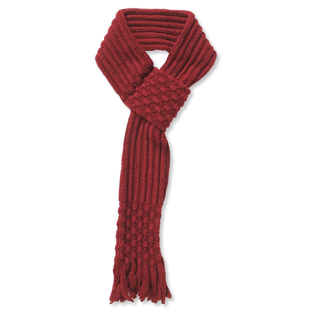 Pull Through Knit Scarf - Burgundy