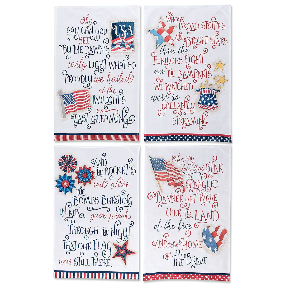Star-Spangled Banner Dish Towels