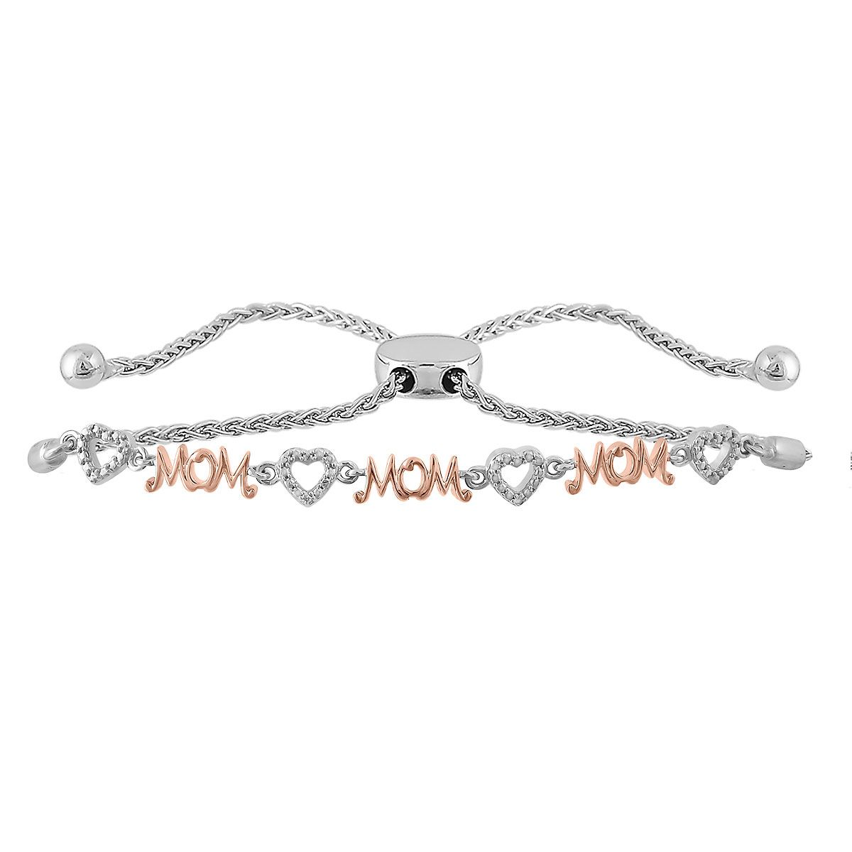 Diamond Accent Mom Bolo Bracelet
