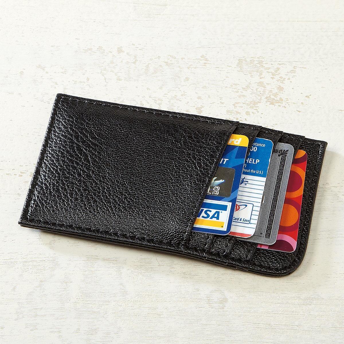 Black Scan-Safe Card Case