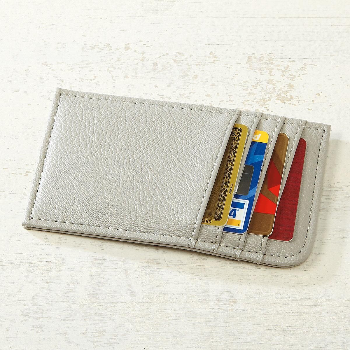 Grey Scan-Safe Card Case