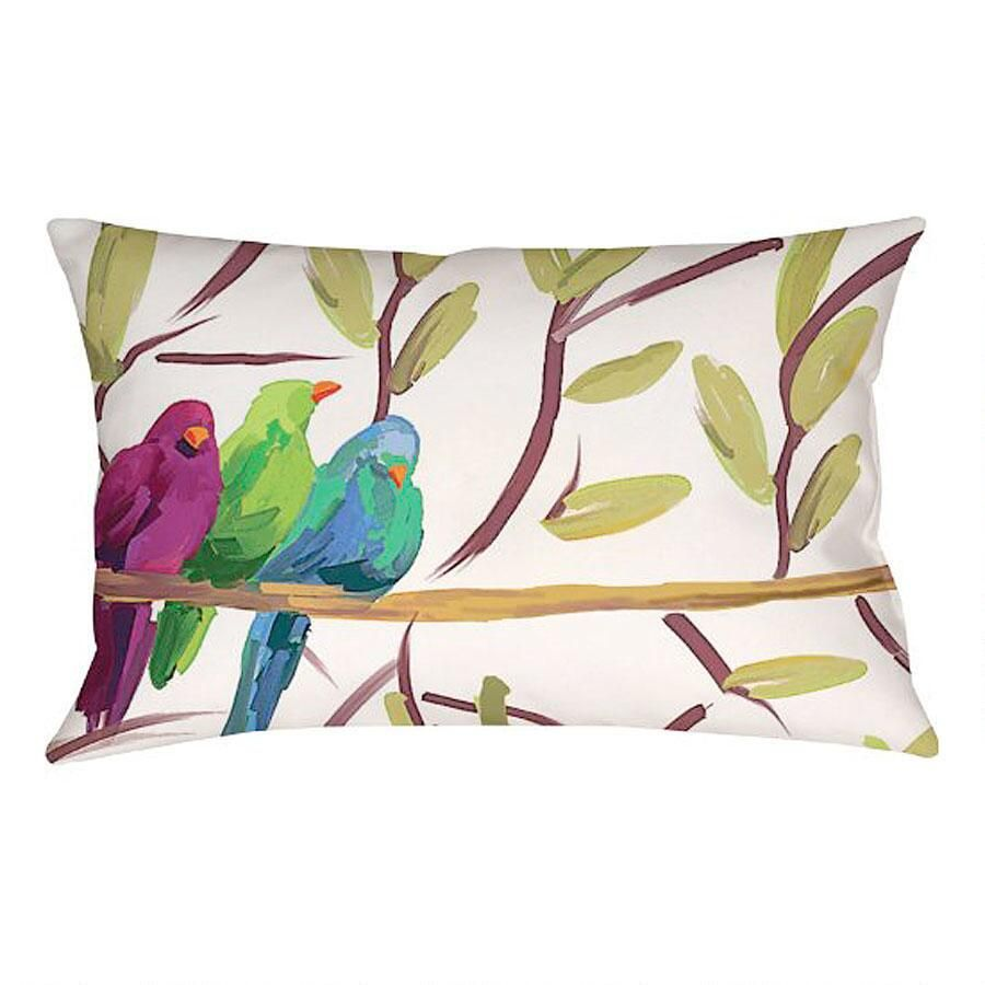 Flocked Together Indoor/Outdoor Decorative Pillow