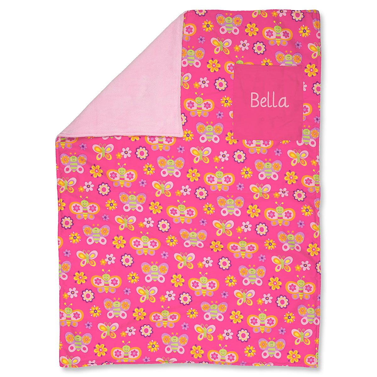 Personalized Toddler-Size Butterfly Blanket by Stephen Joseph®