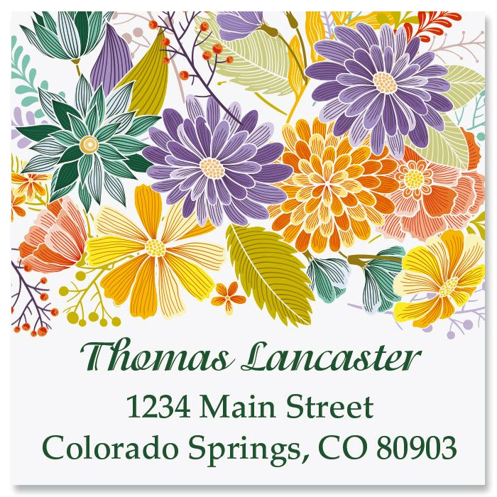 Bloom Large Square Address Labels