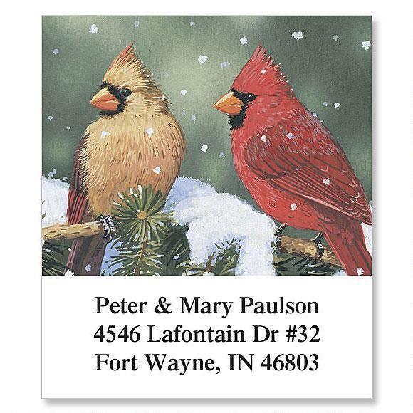 Cardinals Select Address Labels