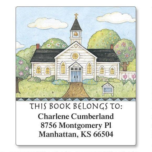 American Landscape Bookplate Labels