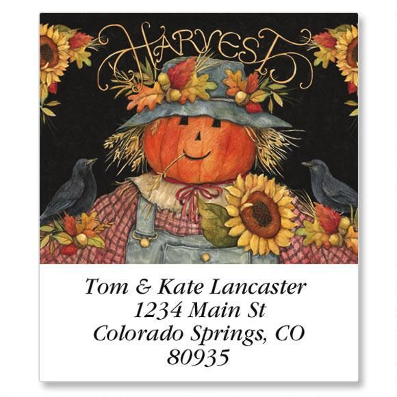 Harvest Scarecrow Select Address Labels