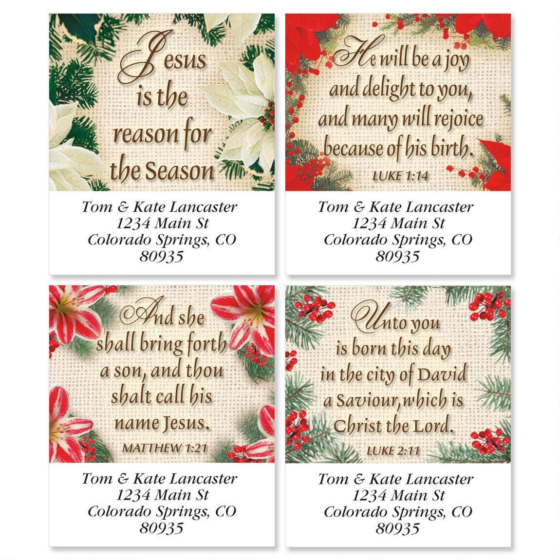 Reason For The Season Select Address Labels  (4 designs)