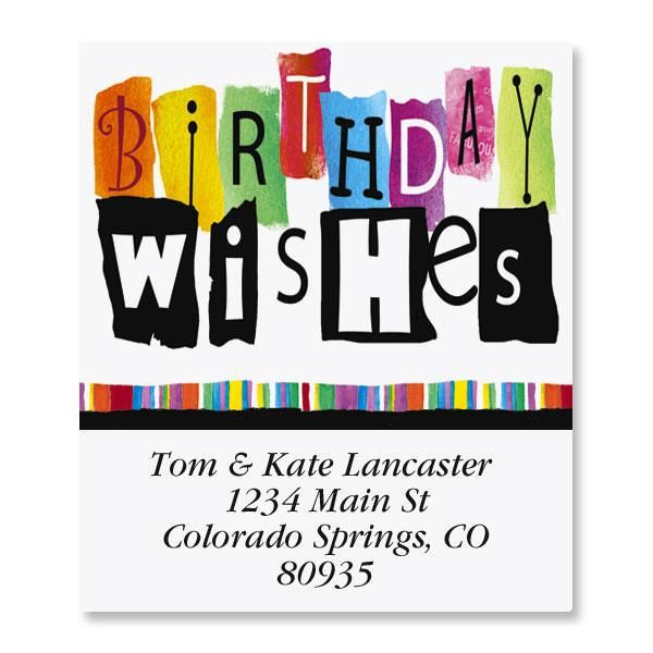 Wishes Select Address Labels