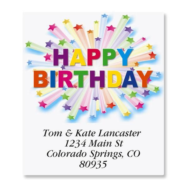 Birthday Star Select Address Labels
