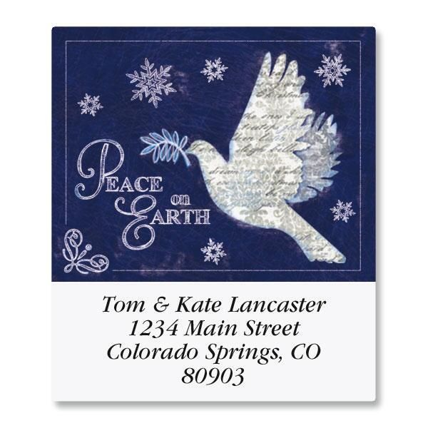 Snow Dove Select Address Labels