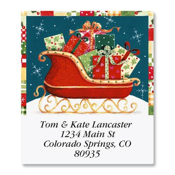 Sleigh Select Address Labels