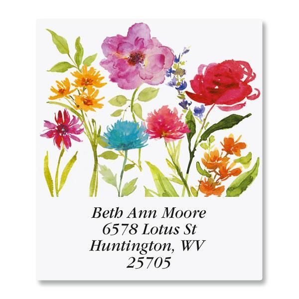 Watercolor Floral Select Address Labels