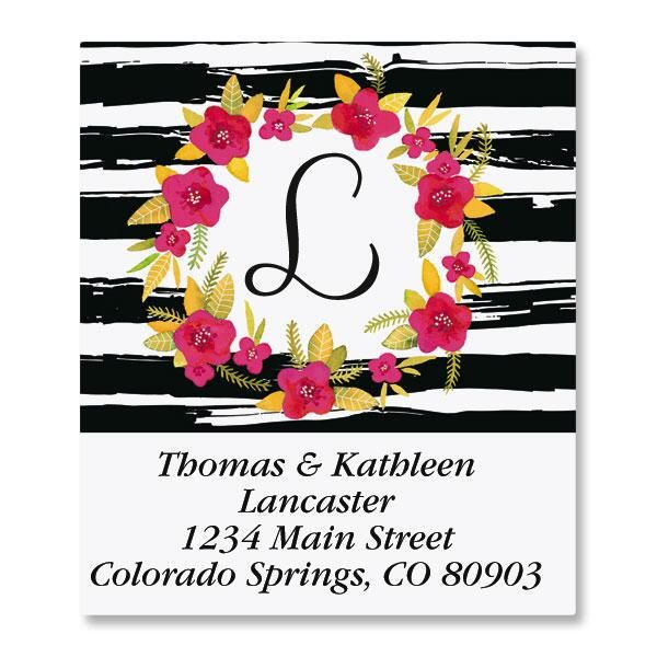 Vivid Wreath Select Address Labels