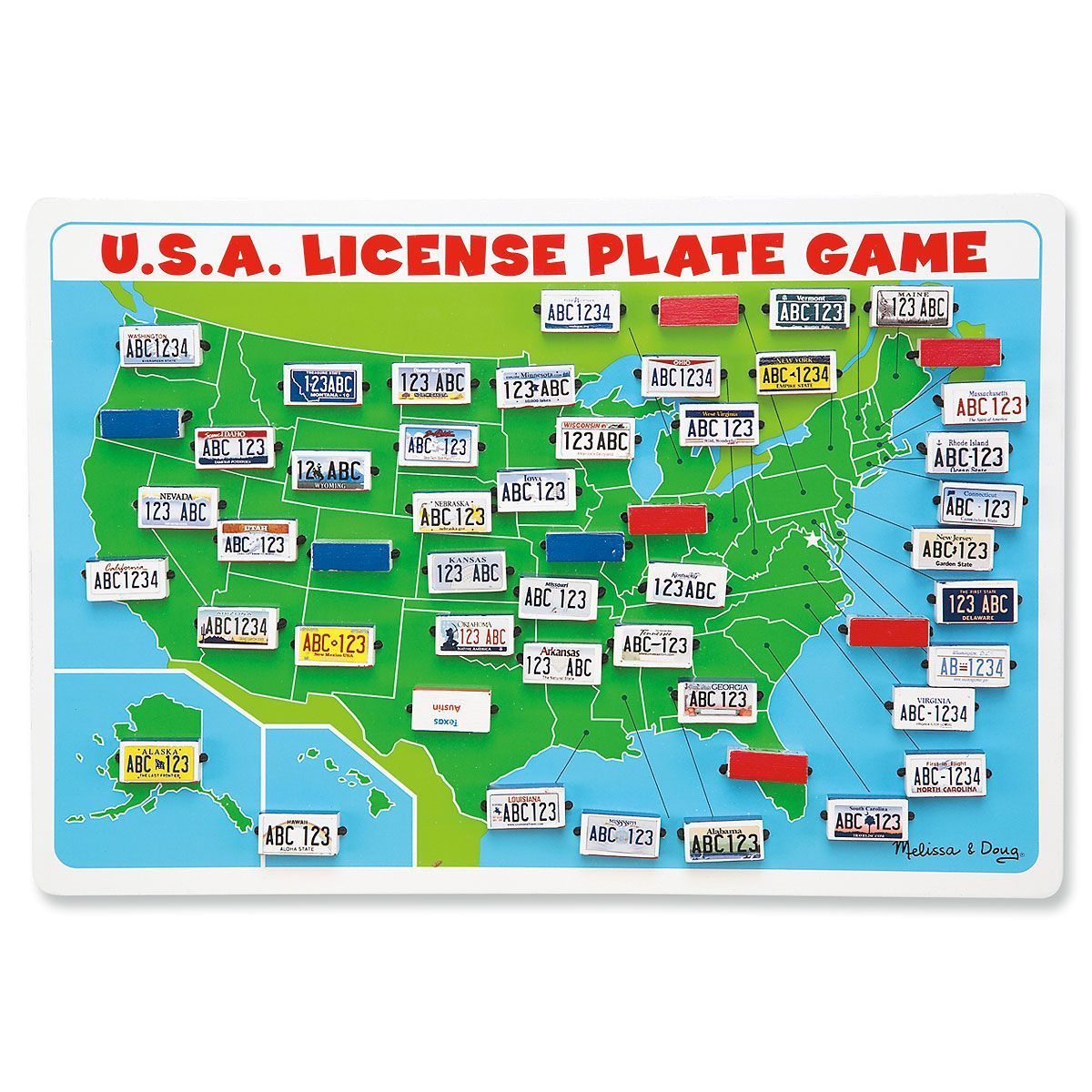 License Plate Interactive Travel Game by Melissa & Doug®
