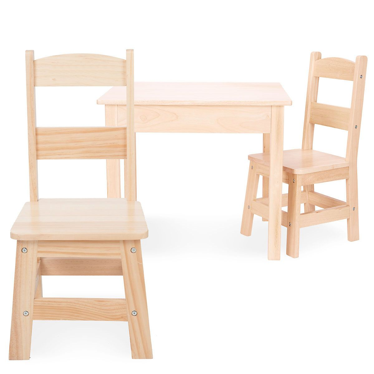 Wooden Table and Chairs by Melissa & Doug - Natural Wooden Table and Chairs by Melissa & Doug - Natural