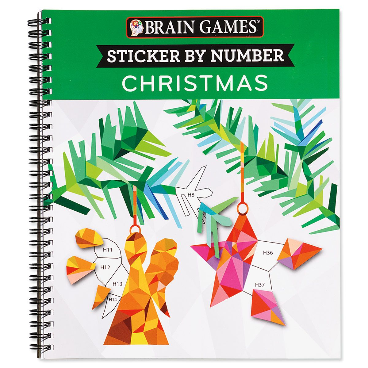 Sticker by Number Christmas Book Brain Games®
