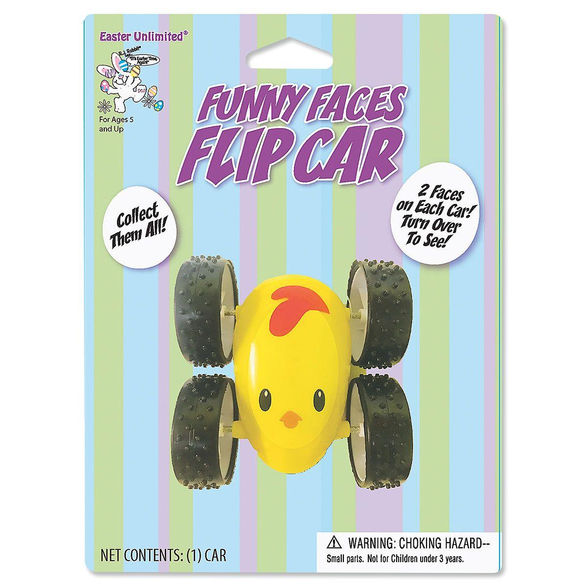 Funny Face Flip Car