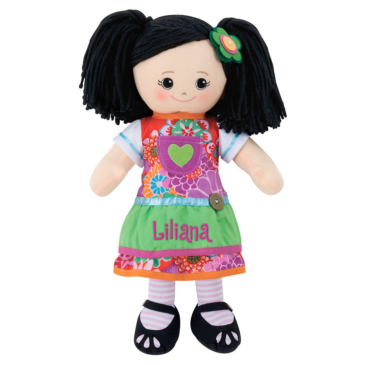 Asian Rag Doll with Apron Dress