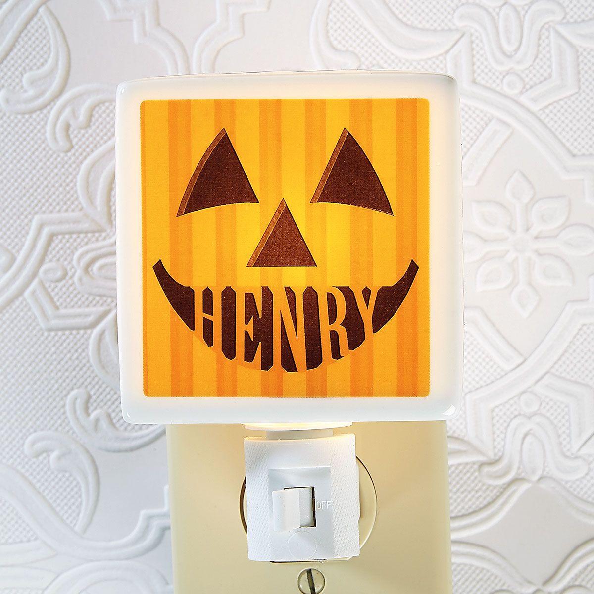 Jack-O'-Lantern Personalized Nightlight