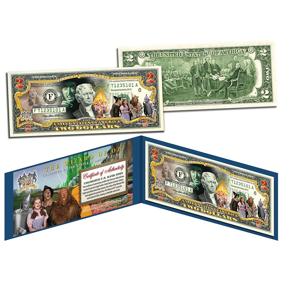 Wizard of Oz 2 Dollar Bill