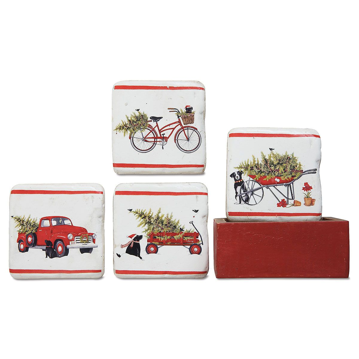Holiday Scene Coasters