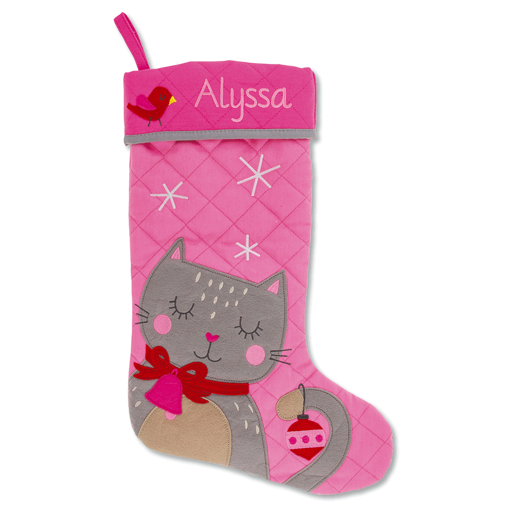 Personalized Cat Christmas Stocking by Stephen Joseph®