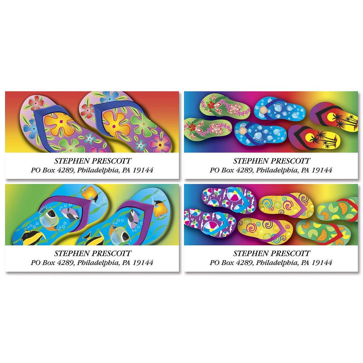 Flip-Flop Fun  Deluxe Address Labels  (4 designs)