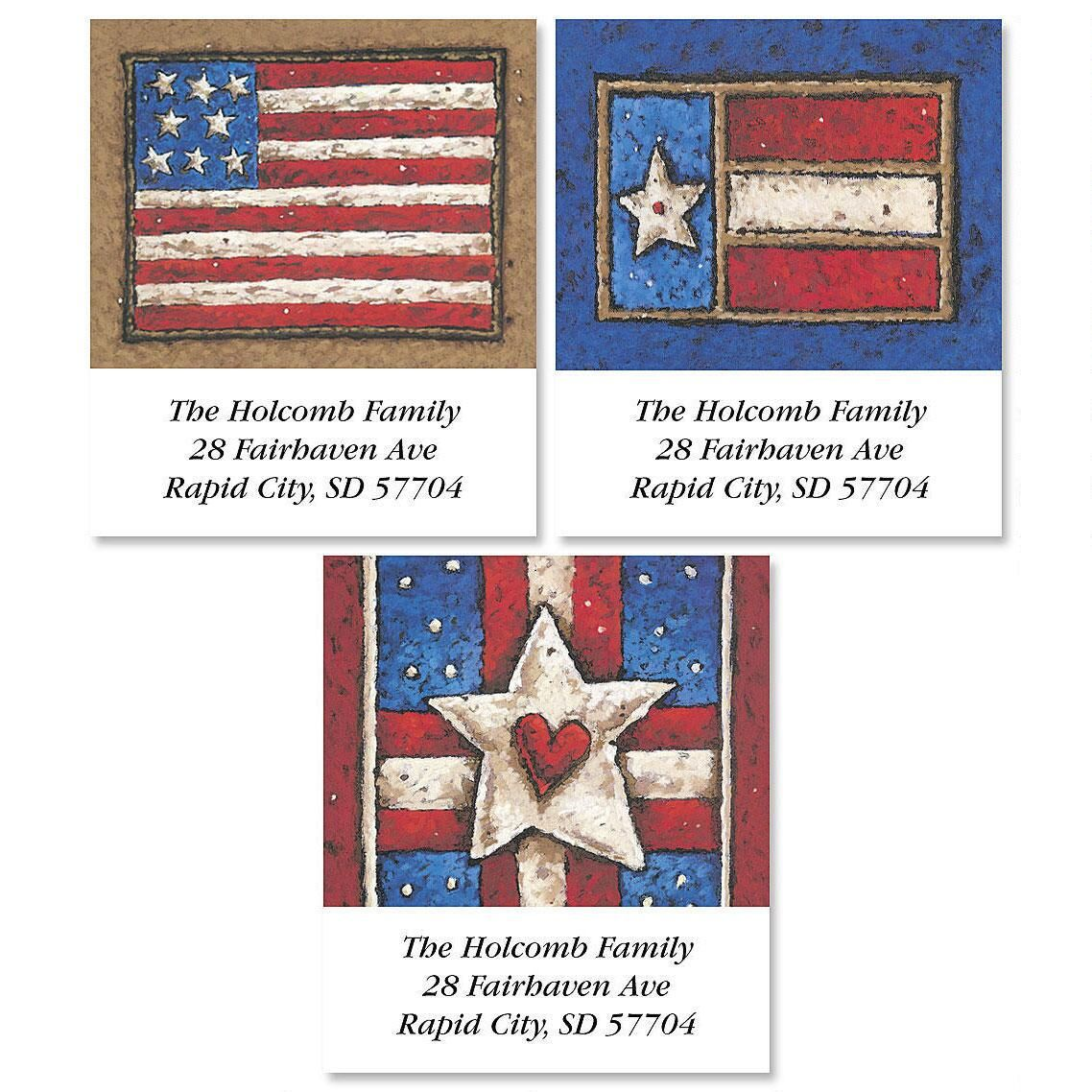 Country Flag Select Address Label  (3 designs)