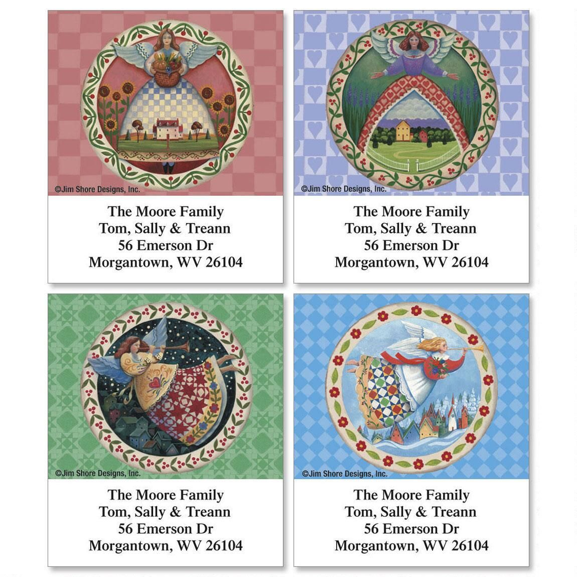 Seasonal Angels by Jim Shore Select Address Labels  (4 Designs)