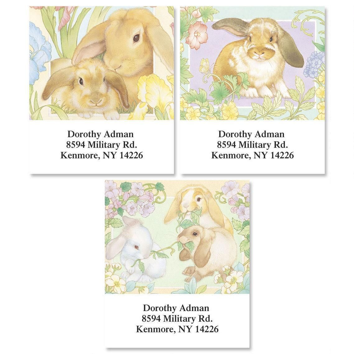 Lovely Bunnies Select Address Labels  (3 Designs)