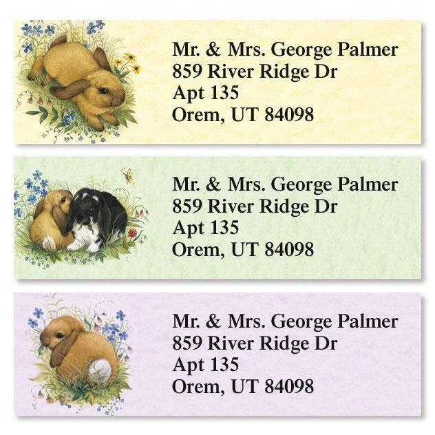 Lovely Bunny Classic Address Labels  (3 Designs)