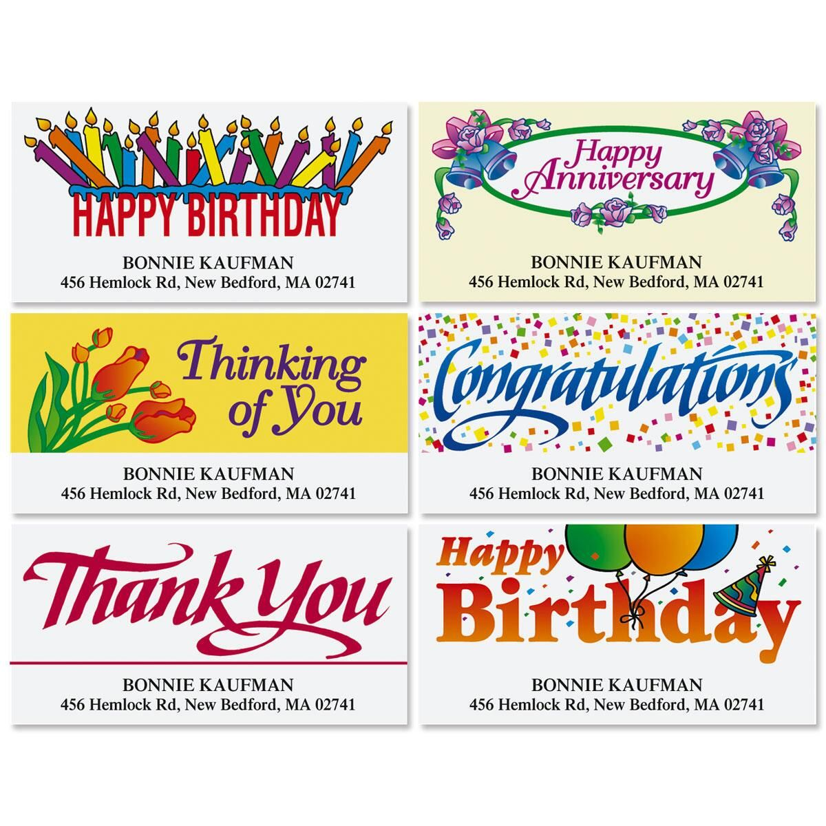 Special Occasions Deluxe Address Labels  (6 designs)