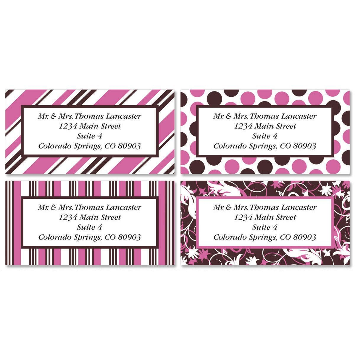 Everyday Dots Border Address Labels  (4 designs)