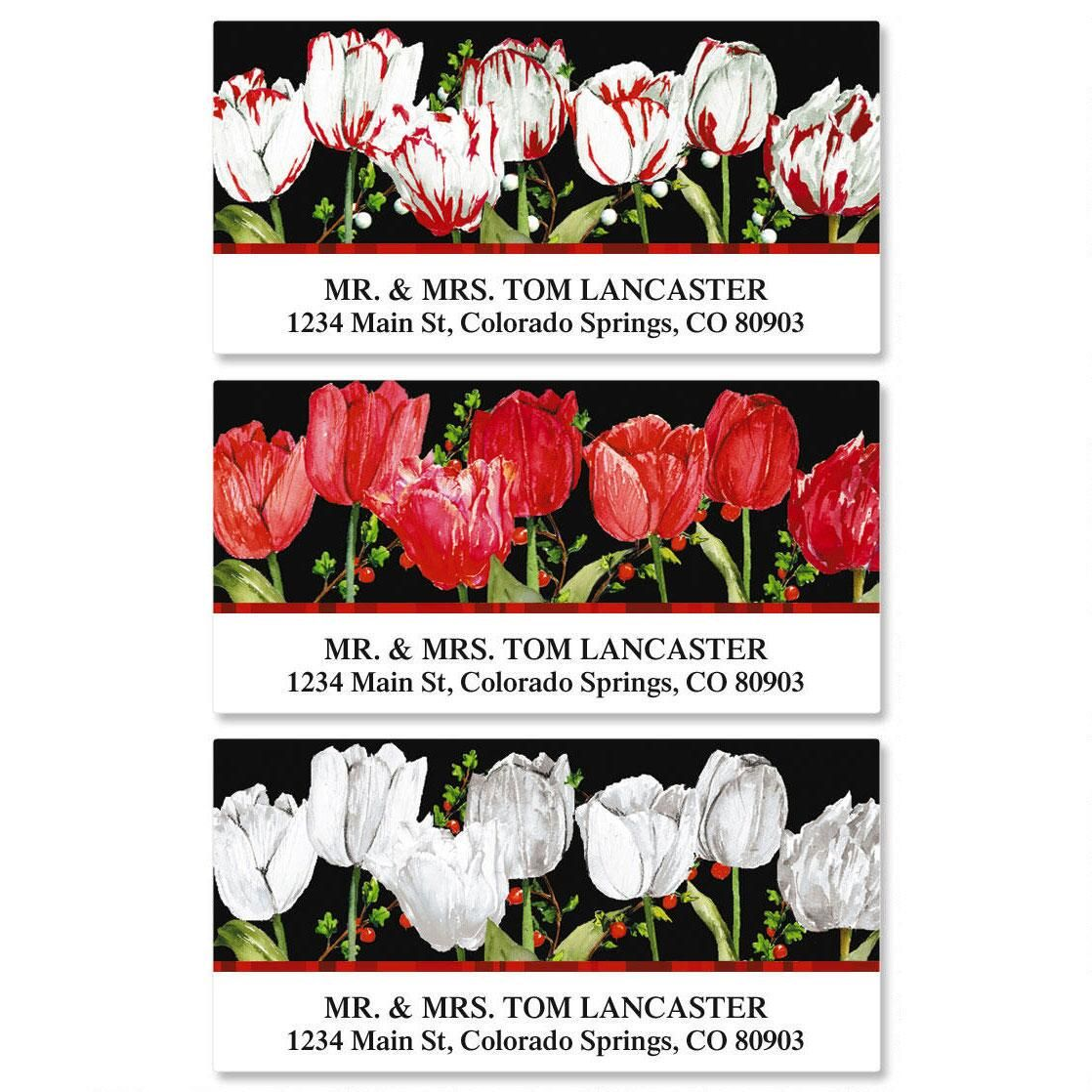 Tulip Time Deluxe Address Labels  (3 Designs)