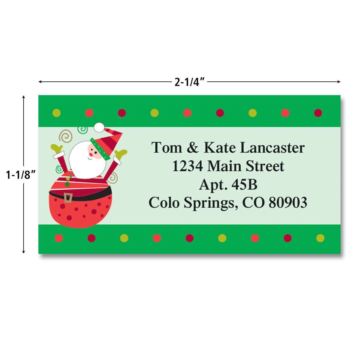 Fun Christmas Border Labels  (4 designs)