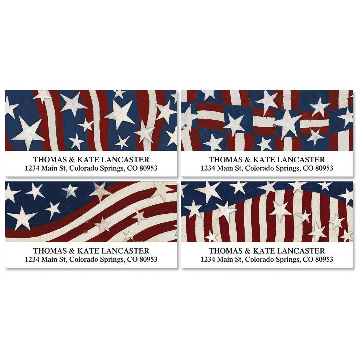 Patriotic Banner Deluxe Address Labels  (4 designs)