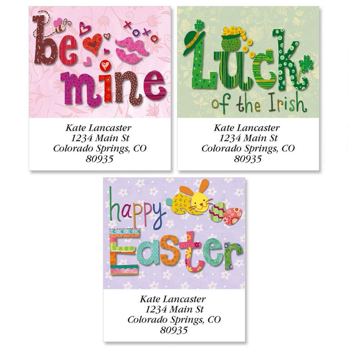 Spring Holiday Select Address Labels  (3 Designs)
