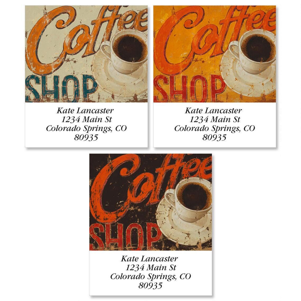 Coffee Shop Select Address Labels  (3 Designs)