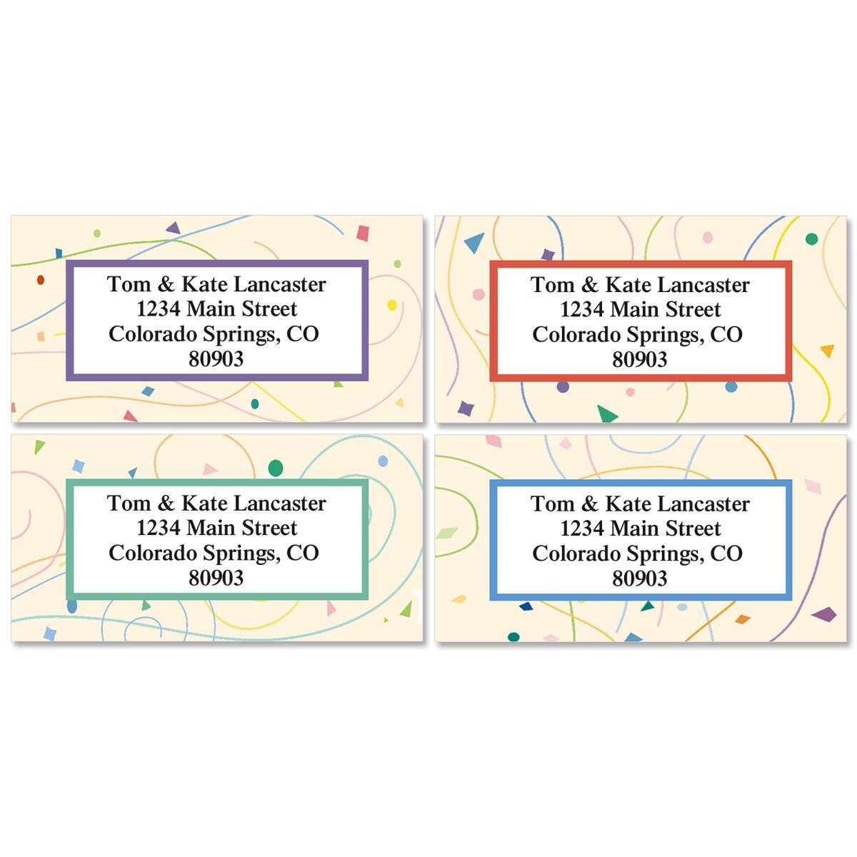 Confetti Address Labels  (4 designs)