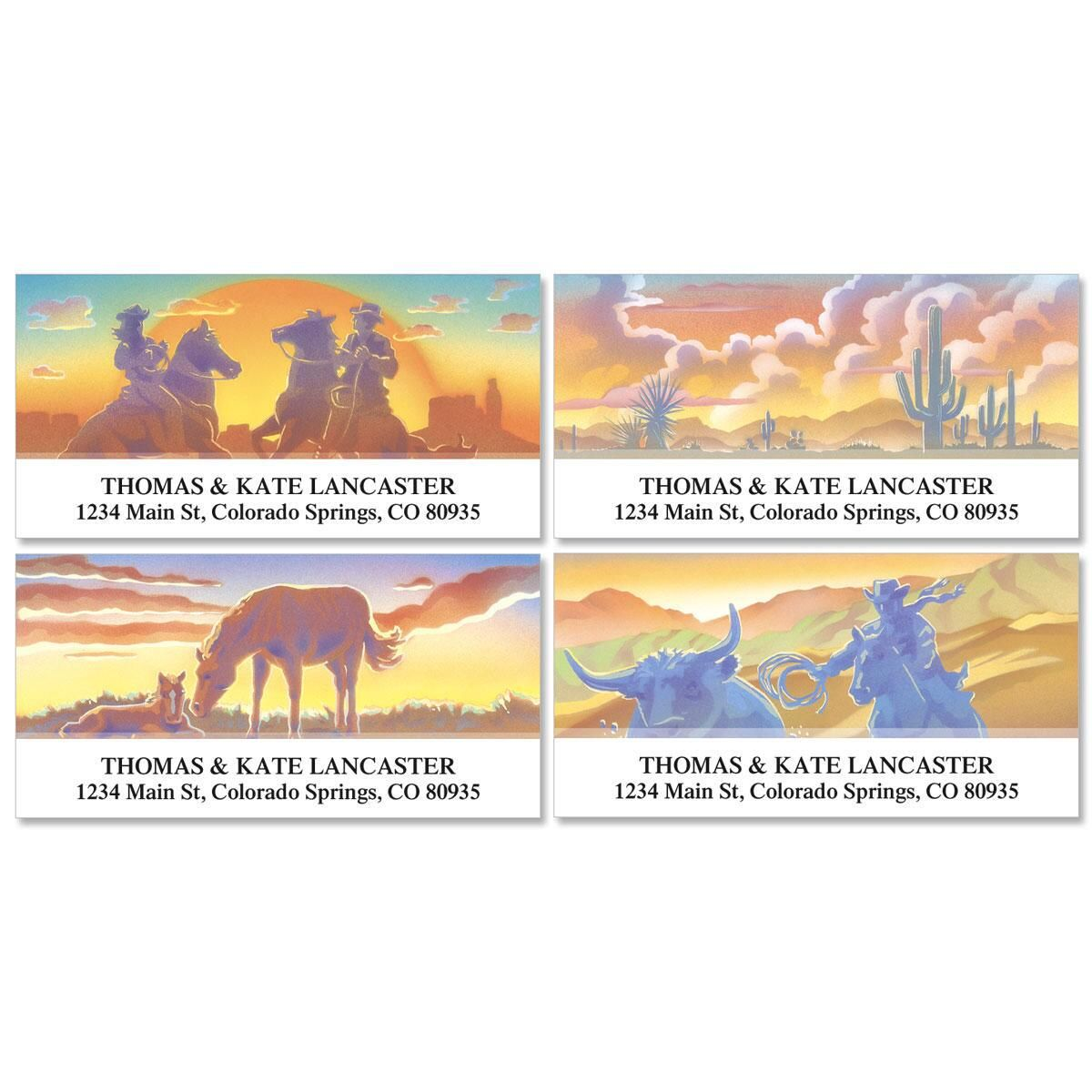 Western Country Deluxe Address Labels  (4 designs)