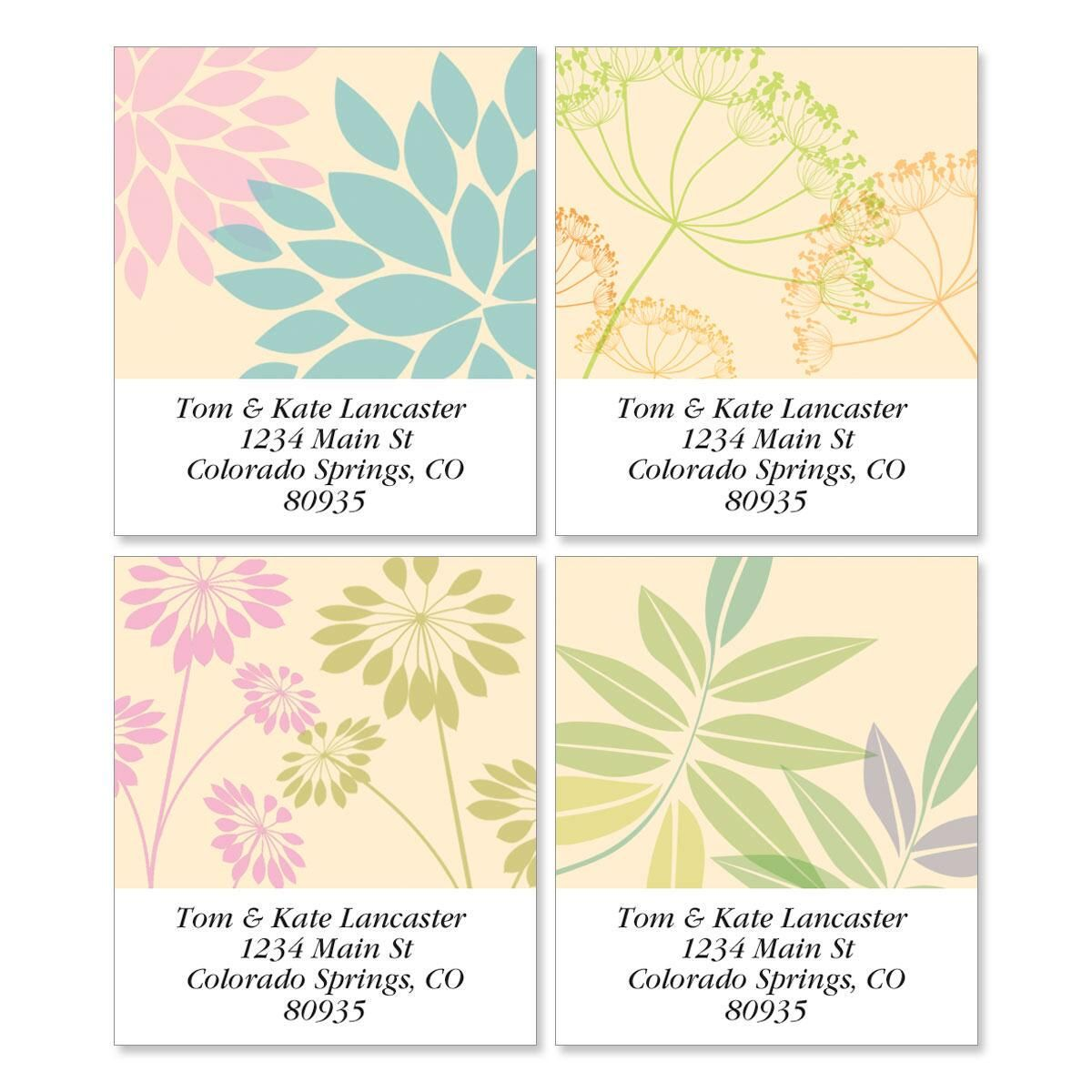 Bella Silhouette Select Address Labels  (4 designs)
