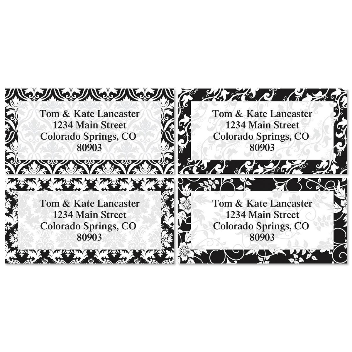 Elegant in Black Address Labels  (4 designs)