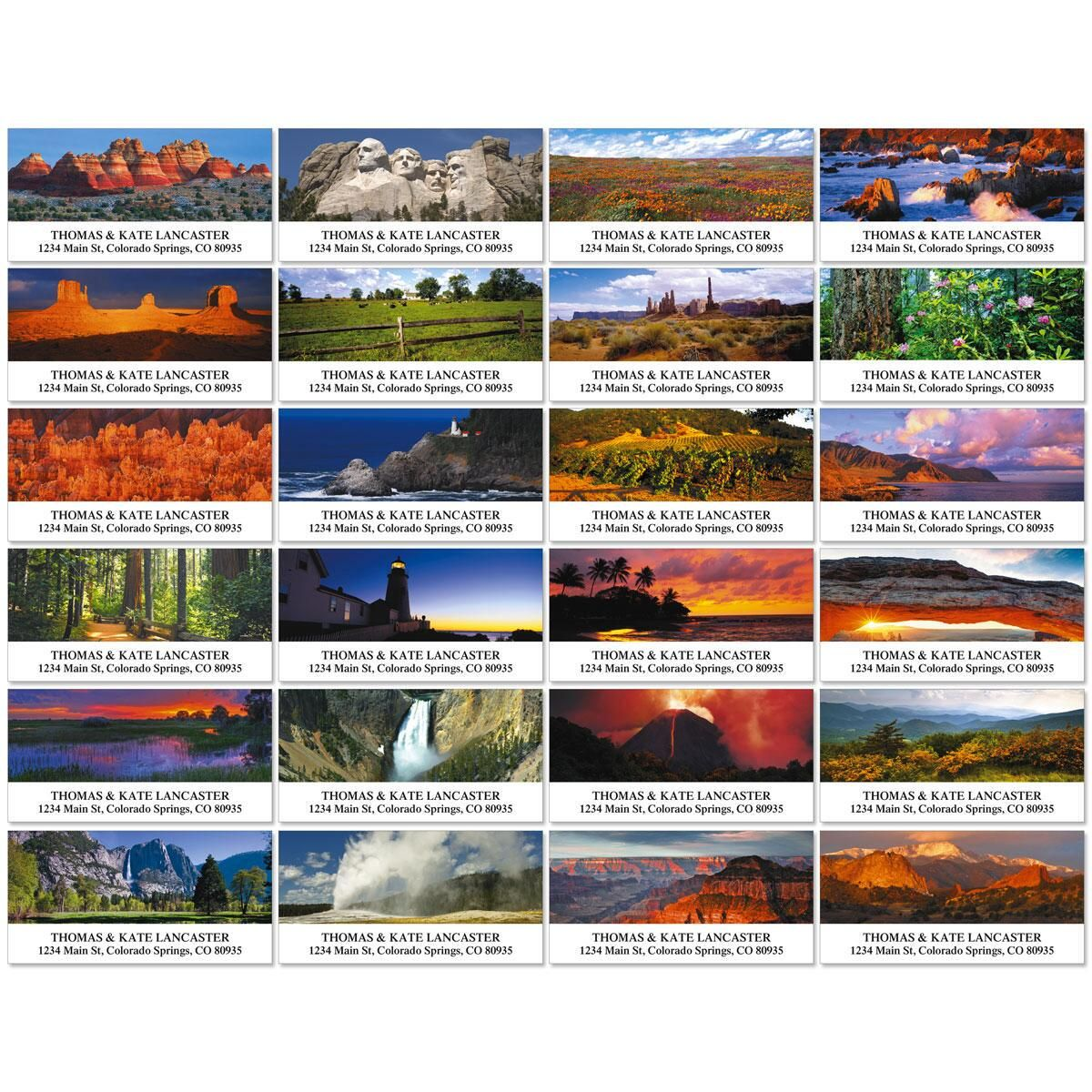 Traveling Across America Deluxe Address Labels  (24 designs)